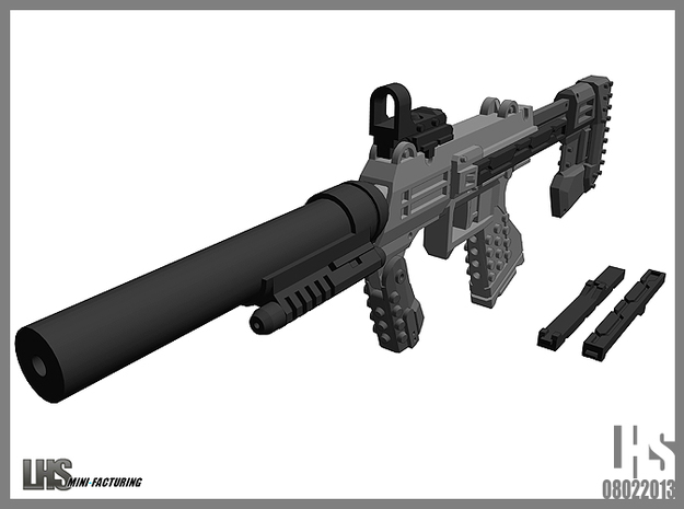 1/6 scale caseless SMG SOCOM Edition 3d printed