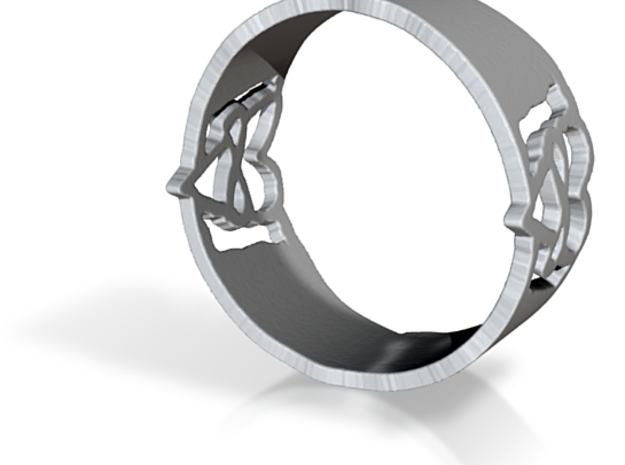 Poly Heart Ring Size 8.5 3d printed
