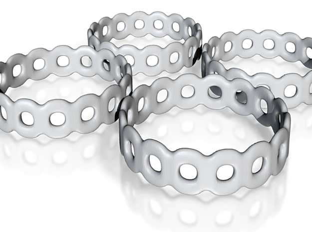 Daisy Chain Napkin Rings (4) 3d printed