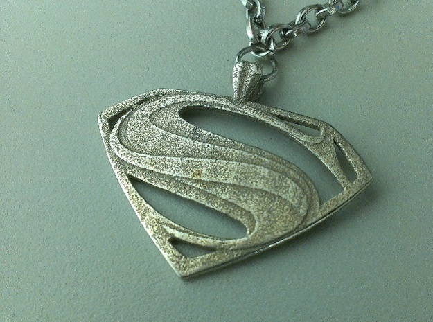 Man Of Steel - Pendant 3d printed Stainless Steel