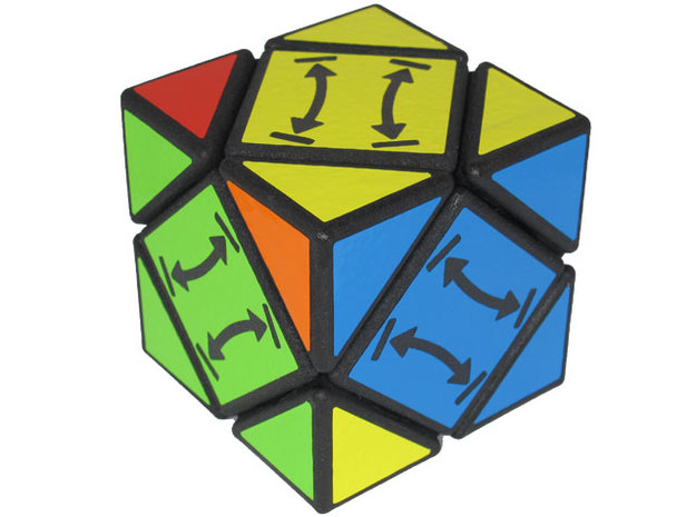Alternating Skewb 3d printed