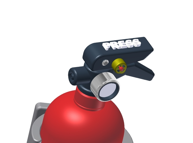 Fire Extinguisher Assembly 3d printed Gauge Detail needs to added