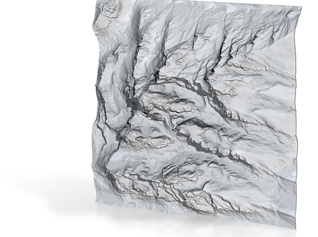 4'' Grand Tetons Terrain Model, Wyoming, USA 3d printed