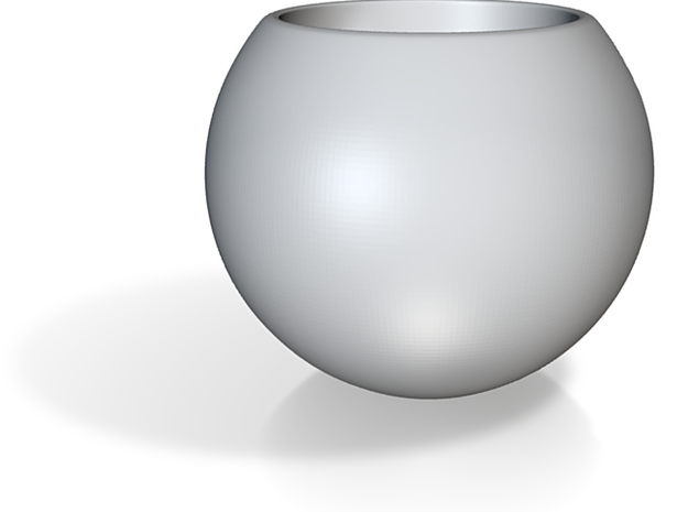 Spherical Espresso Cup Design 1 3d printed