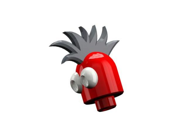 MagMan Magnetic Mohawk Head 3d printed Magnetic Mohawk Head