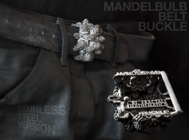 MANDELBULB BELT BUCKLE - Steel Version