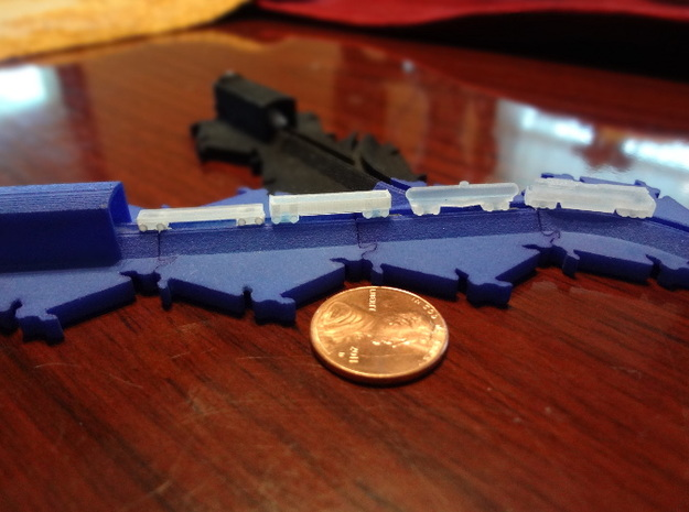 Freight Train Set (track not included) 3d printed Freight train set (track not included)