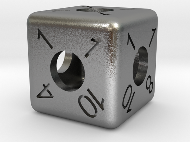 Average D6 Hollow Dice 3d printed