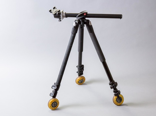 Manfrotto 190xprob Wheel Mount 3d printed