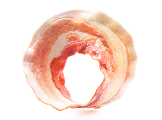 Bacon Mobius Strip 3d printed Coated Back