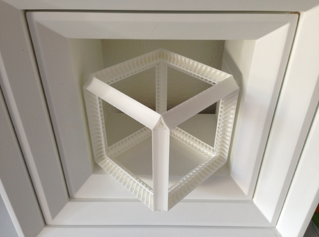 Perspective Cube Illusion 15cm 3d printed