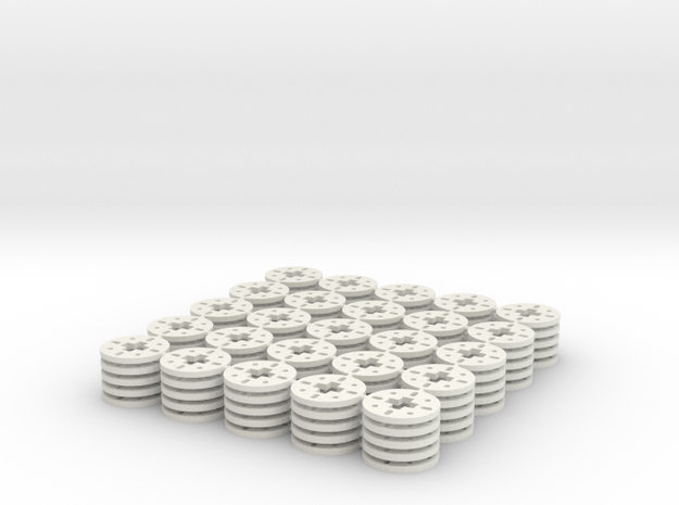 Circular washer for Lego axles (x 125) 3d printed