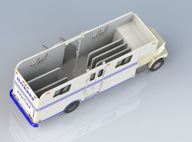 HO 1/87 Horsebox 1978 Imperatore 6, International 3d printed