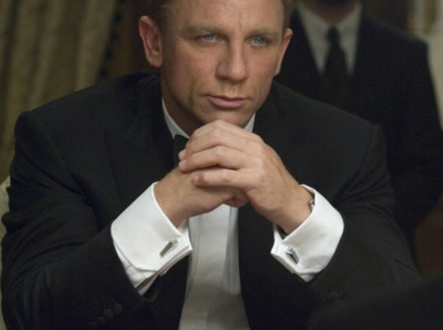 007 Cufflinks (no inscription) 3d printed James Bond in Casino Royale