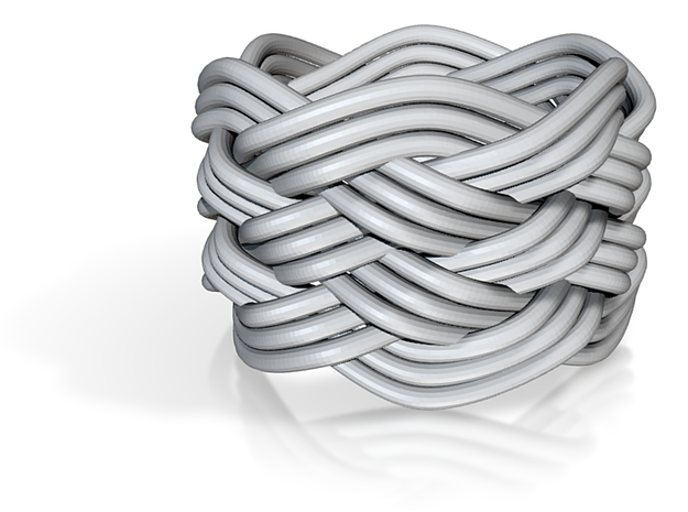 Turk's Head Knot Ring 6 Part X 6 Bight - Size 4.5 3d printed