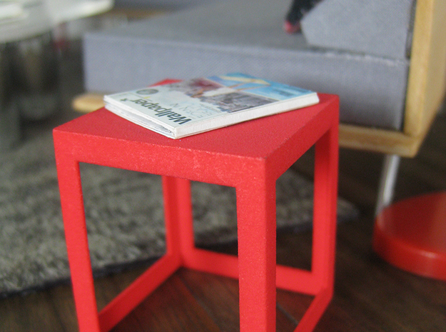 Framed 1:12 scale Side Table 3d printed