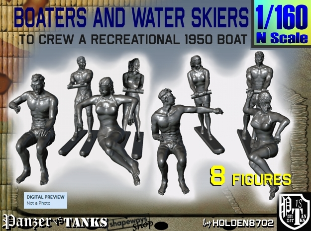 1-160 Boaters And Water Skiers Set