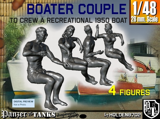 1-48 Recreation Boat Couple Set 1