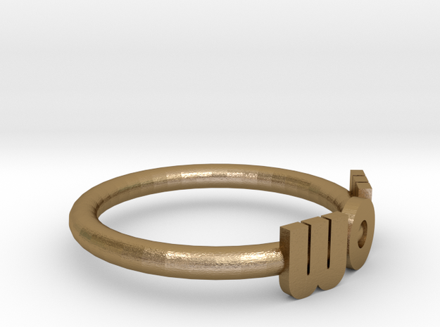 Mom Wow Ring 3d printed Wow or Mom, depending on which way you look at it.