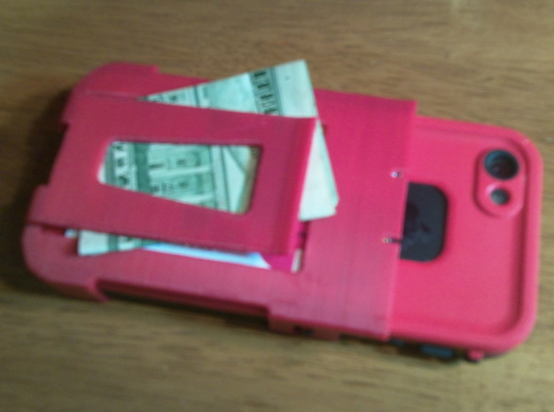 Lifeproof wallet with money clip and credit card h 3d printed