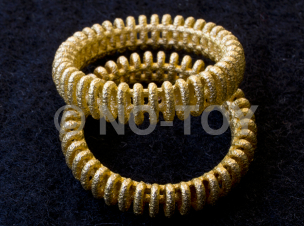 """VORTEX TWO - """"17,5mm"""" - """"54,5mm"""" - """"N"""" - """"7"""" 3d printed GOLD PLATED MATTE (ORIGINALL PRODUCT IMAGE)"""
