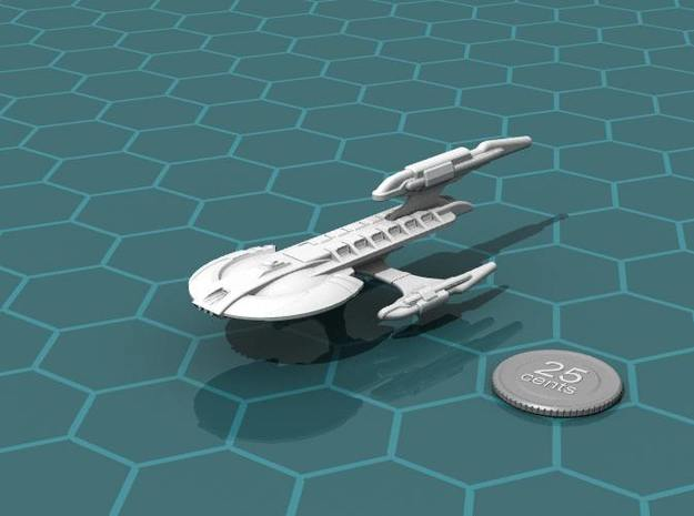 Xuvaxi Magistrate 3d printed Render of the model, with a virtual quarter for scale.