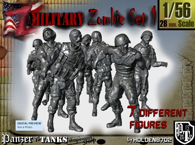 1-56 Seven Military Zombies Set1