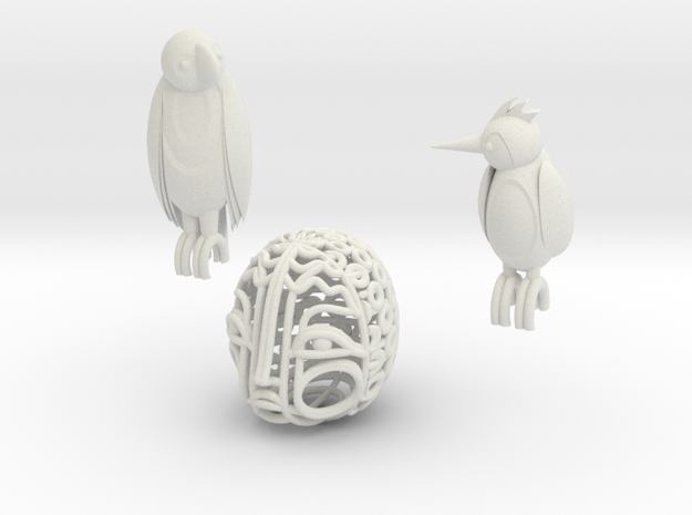 Momo the bird cage Accesories 3d printed