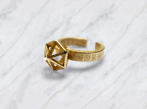 L Gold Stereodiamond Ring 188 (59) 3d printed Gold Stereodiamond 1