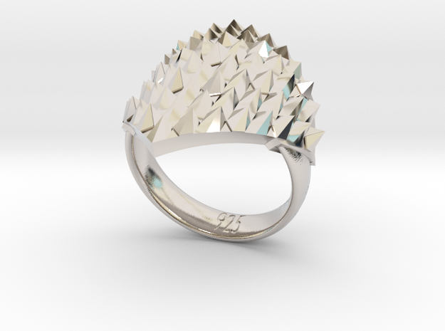 Dragonscales Ring Silver 3d printed