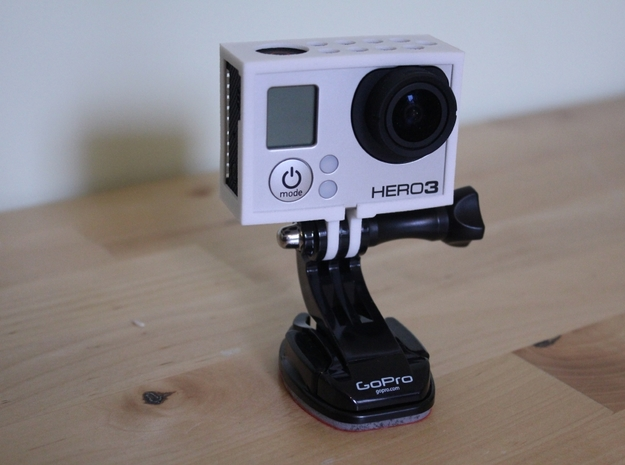 GoPro Hero3 & Hero4 - Frame'ish - d3wey 3d printed As of Sept 2013 can be mounted either way up with access to the shutter button up or down