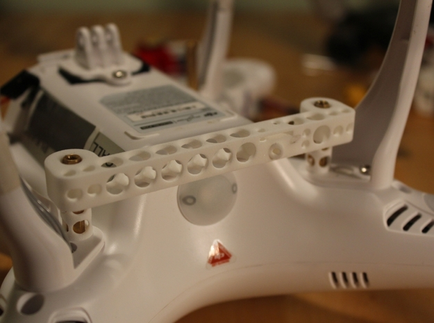 DJI Phantom FO-OSD (Fibre Optic OSD) - d3wey 3d printed Rear mount fits snuggly with or witout the FPV custom undertray