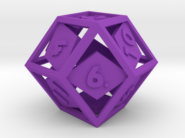 Open Rhombic d12 3d printed