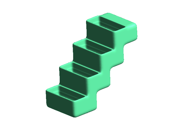 Flower-staircase - small, solid 3d printed