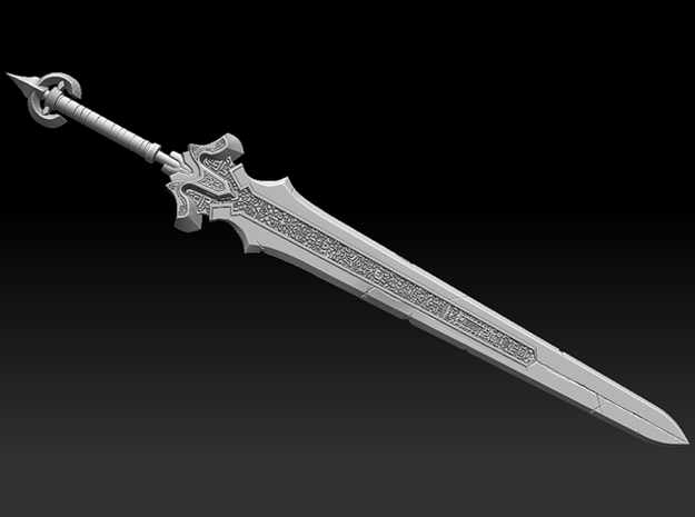 Fantasy Sword 3d printed Screenshot of the ZBrush sculpt