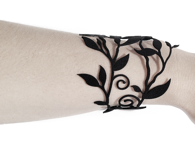 Branche Bracelet (LARGE) 3d printed Black Strong & Flexible version
