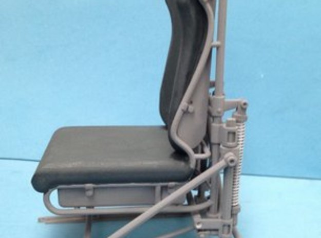1:7 Scale Bell Pilot Seat 3d printed