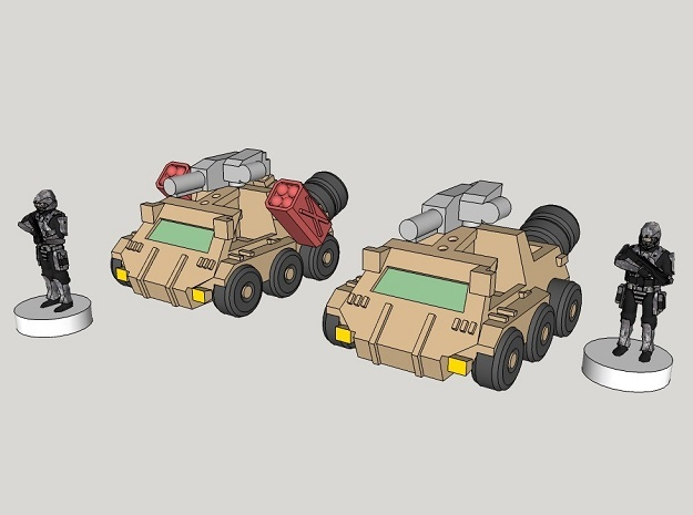 6mm Bromely Recce Vehicle (12pcs)
