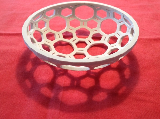 "Covalent Bonds Coffee Table Bowl (6.25"" diameter) 3d printed"