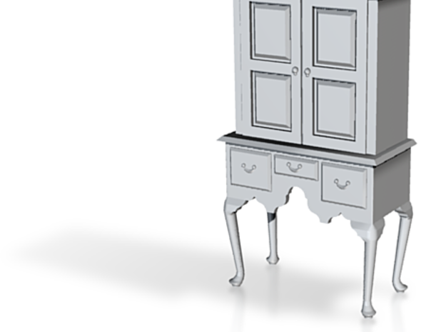 1:48 Queen Anne Highboy Cabinet 3d printed