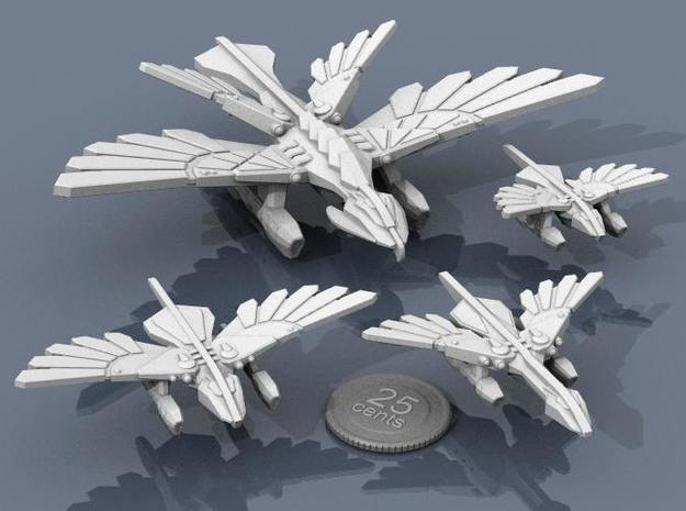 Murustan Drake 3d printed Drake with support ships.