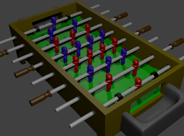 "Foosball Table 4"" long 3d printed"