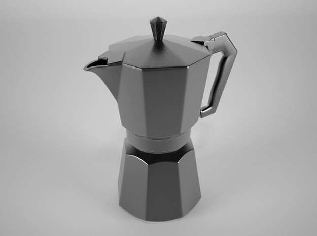 Moka pot token 3d printed Beauty render