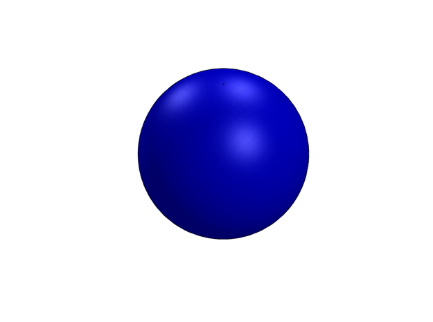 1in Bouy-ball 3d printed 1in. buoyant ball in blue