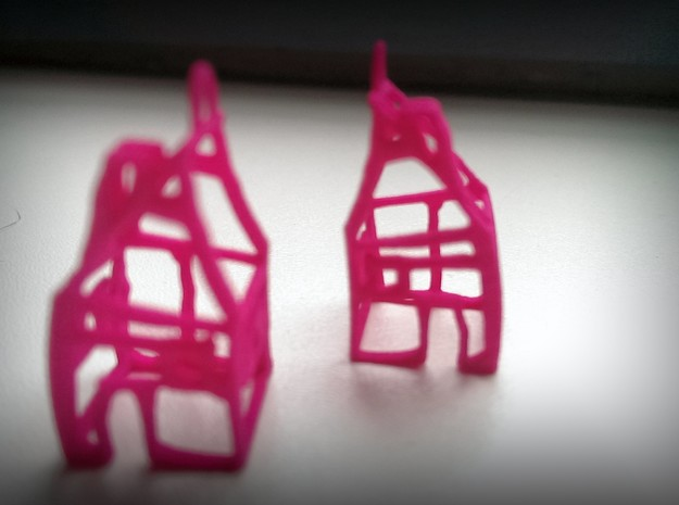 House-earrings SET 3d printed