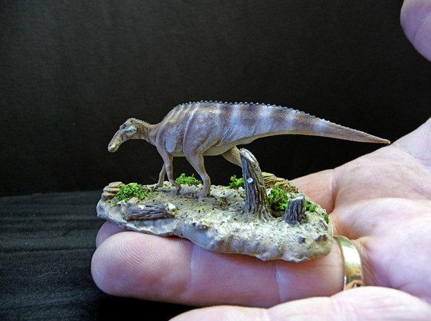 Edmontosaurus Krentz 3d printed White Strong and Flexible Painted by Martin Garratt