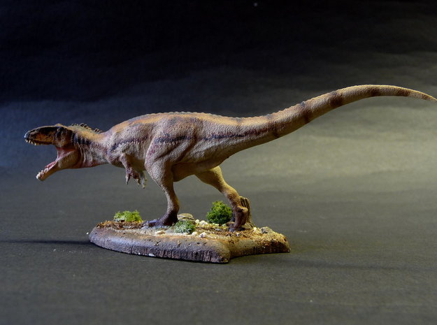 Giganotosaurus 1/144 Krentz v2 3d printed White Strong and Flexible painted by Martin Garratt