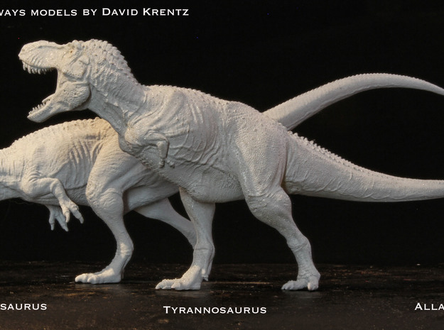 Giganotosaurus 1/172 Krentz v2 3d printed White Detail painted Gray