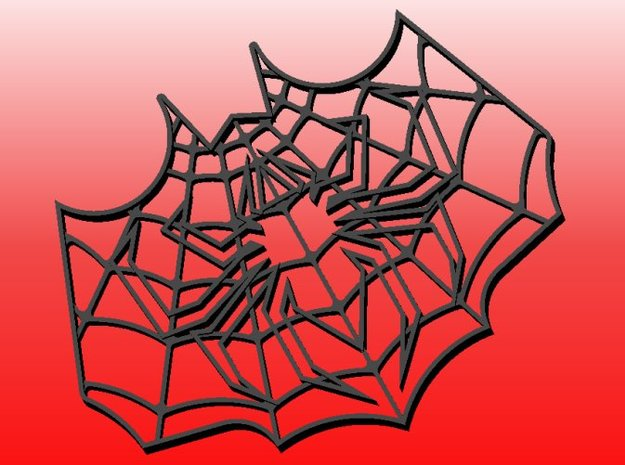 Spider-Bat Cookie Cutter (3 layers, 10 mm) 3d printed CAD model of 3-layer Spider-Bat Cookie Cutter