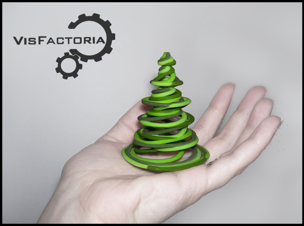 Color Swirling Christmas Tree 3d printed